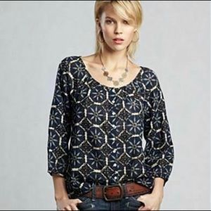 John Robshaw For Lucky Brand Peasant Top